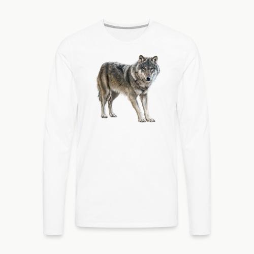 european wolf - Men's Premium Long Sleeve T-Shirt