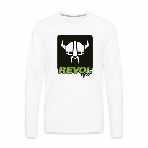 RevolRC Viking White on Black - Men's Premium Long Sleeve T-Shirt