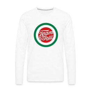 TEAM MELLI RETRO BADGE - Men's Premium Long Sleeve T-Shirt
