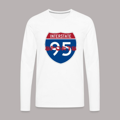I-95 Sports Podcast Logo - Men's Premium Long Sleeve T-Shirt