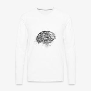 Brain Illustration - Men's Premium Long Sleeve T-Shirt