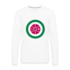 Retro round Iran badge - Men's Premium Long Sleeve T-Shirt