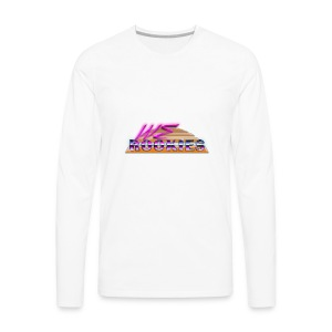 80s we Rookies T shirt design (transparent) - Men's Premium Long Sleeve T-Shirt