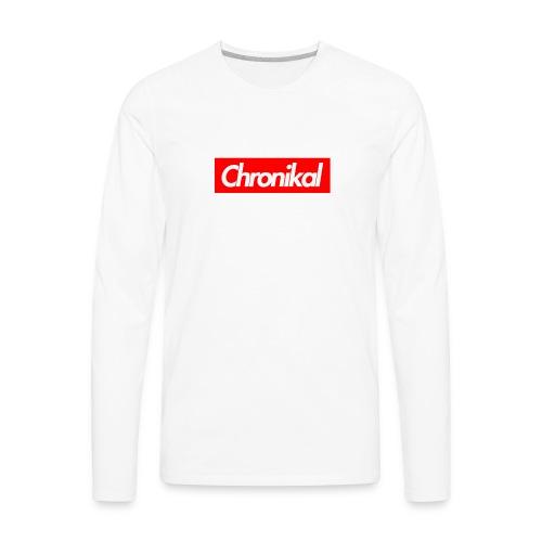 Chronikal Box Logo - Men's Premium Long Sleeve T-Shirt