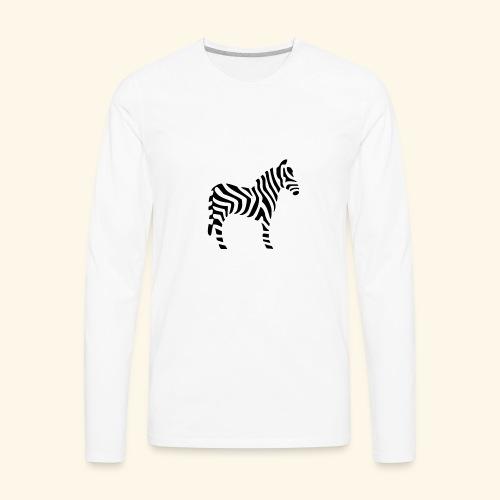 Zebra T - Men's Premium Long Sleeve T-Shirt