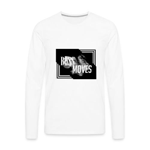 bossmoveslogo - Men's Premium Long Sleeve T-Shirt