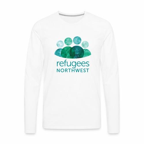 Refugees Northwest Logo Design - Men's Premium Long Sleeve T-Shirt
