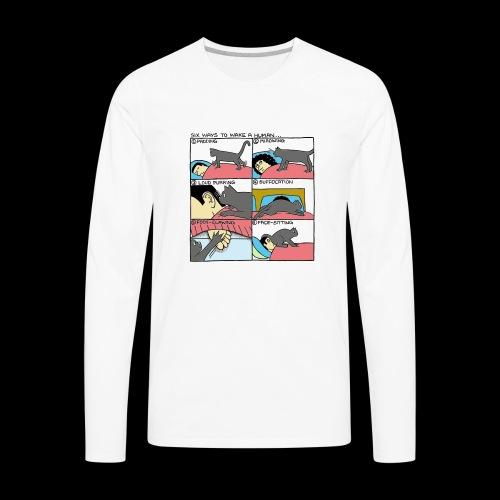 Six Ways To Wake A Human - Men's Premium Long Sleeve T-Shirt
