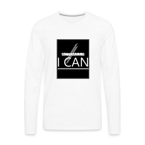 ACTUALLY I CAN - Men's Premium Long Sleeve T-Shirt