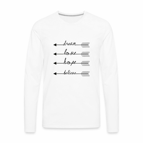Arrow Quotes - Men's Premium Long Sleeve T-Shirt
