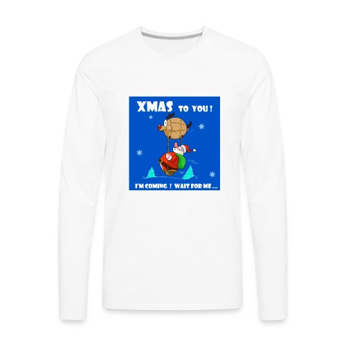 xmas funny tee shirt - Men's Premium Long Sleeve T-Shirt