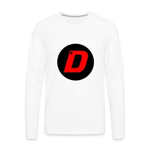 DAVONTAETV Black/Red - Men's Premium Long Sleeve T-Shirt