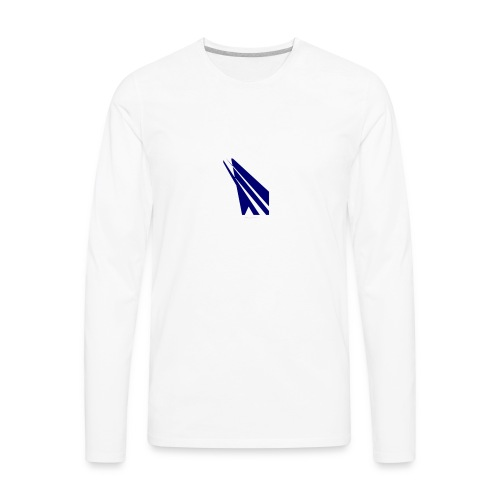 blue logo - Men's Premium Long Sleeve T-Shirt