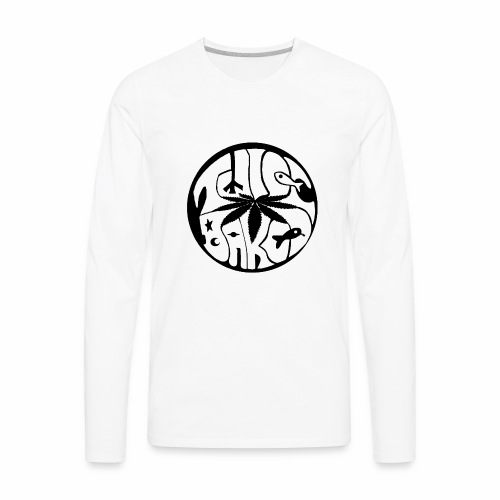 tWicEbakED logo, black circle - Men's Premium Long Sleeve T-Shirt