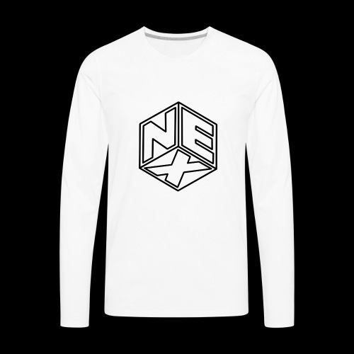 Nexagonal Logo (White_ - Men's Premium Long Sleeve T-Shirt