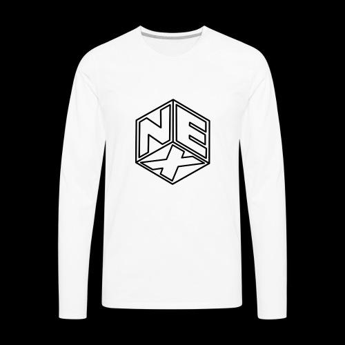 Nexagonal Logo (White_ - Men's Premium Long Sleeve T-Shirt
