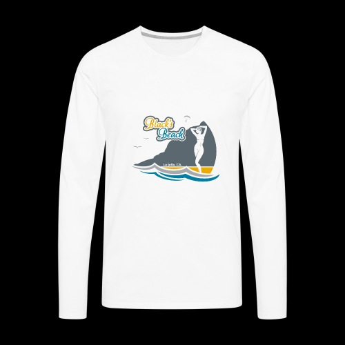 Blacks Beach Gold and Blue - Men's Premium Long Sleeve T-Shirt