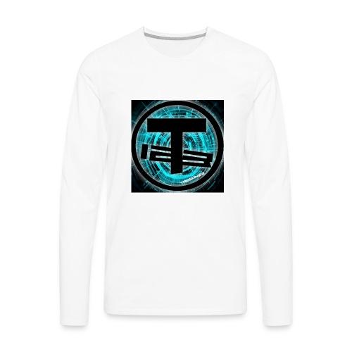 Teegan123 Logo - Men's Premium Long Sleeve T-Shirt