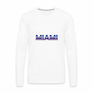 80s Style Miami - Men's Premium Long Sleeve T-Shirt