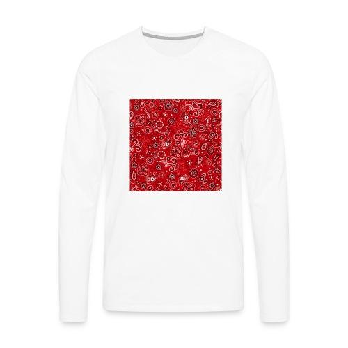 Red bandana square box - Men's Premium Long Sleeve T-Shirt