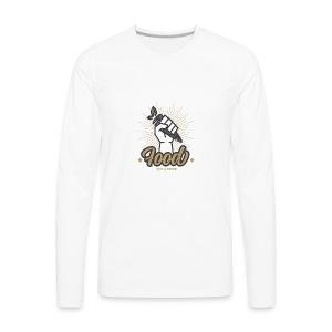Food Not Bomb - Men's Premium Long Sleeve T-Shirt