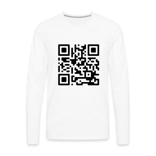 QR Codes are Dumb - Black - Men's Premium Long Sleeve T-Shirt
