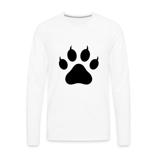 Cat Pawprint - Men's Premium Long Sleeve T-Shirt