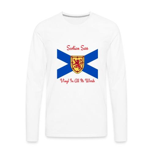 Scotian Sass Transparent - Men's Premium Long Sleeve T-Shirt