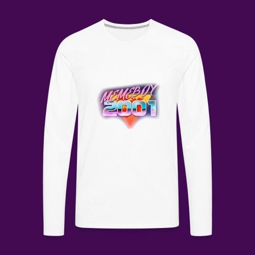 Memeboy 2001 logo - Men's Premium Long Sleeve T-Shirt