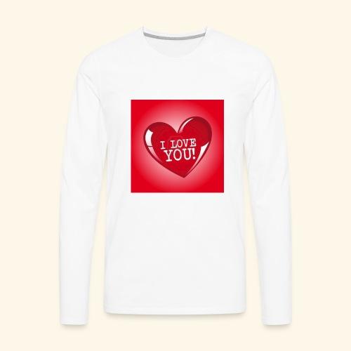 red heart i love you - Men's Premium Long Sleeve T-Shirt