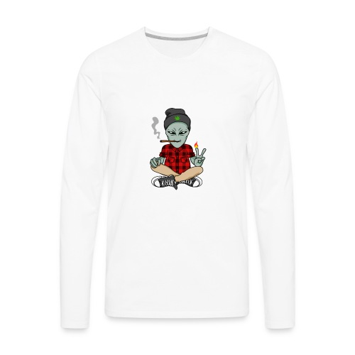 NUGZ THE ALIEN Mascot 4 TOO HIGH CLUB CLOTHING Co. - Men's Premium Long Sleeve T-Shirt