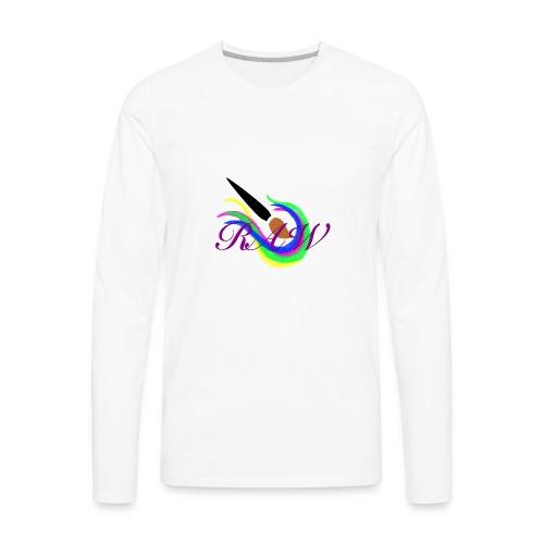 RAW logo - Men's Premium Long Sleeve T-Shirt