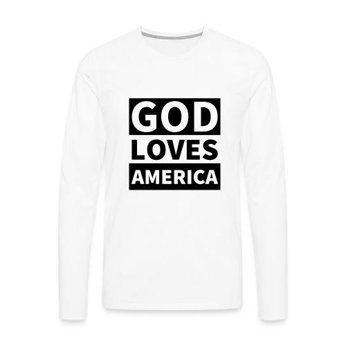 God Loves America - Men's Premium Long Sleeve T-Shirt