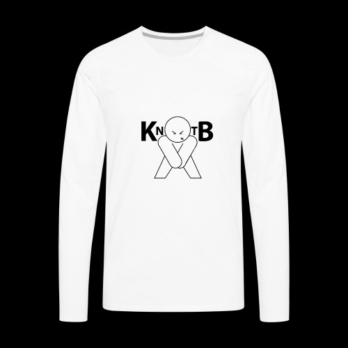 KickNtheBalls Logo - Men's Premium Long Sleeve T-Shirt