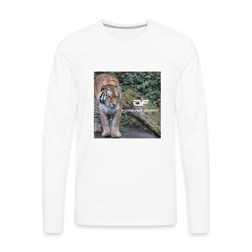 Forever Great tiger design - Men's Premium Long Sleeve T-Shirt