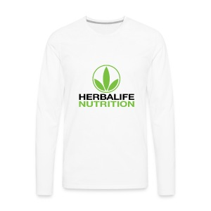 Herbalife Nutrition White Apparel - Men's Premium Long Sleeve T-Shirt