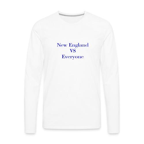 new england vs everyone light shirt - Men's Premium Long Sleeve T-Shirt