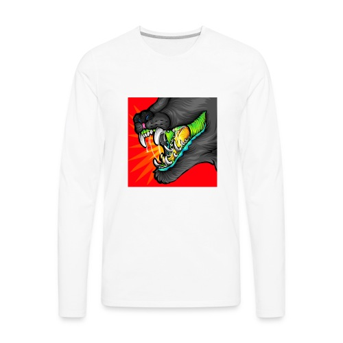 Alexandra Samson Big Mouth - Men's Premium Long Sleeve T-Shirt