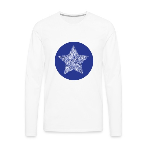 Sketchy star - Men's Premium Long Sleeve T-Shirt