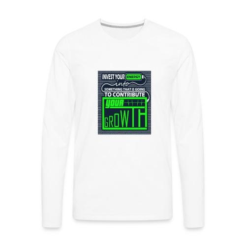 Energy Invest - Men's Premium Long Sleeve T-Shirt