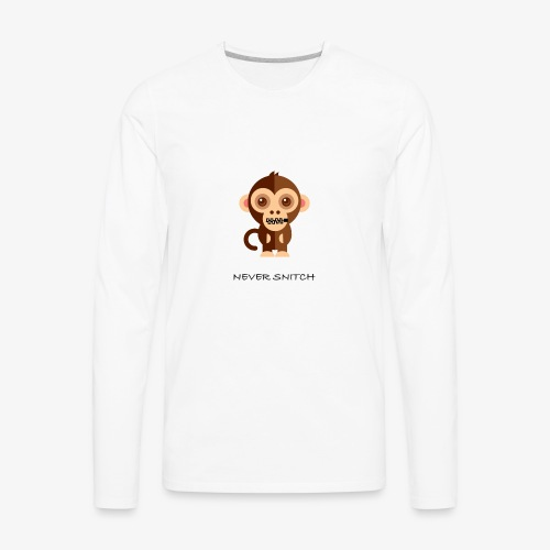 never snitch .... - T-shirt Premium à manches longues pour hommes