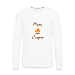 Happy Camping / Outdoor Nature Lover Shirt/ Merch - Men's Premium Long Sleeve T-Shirt