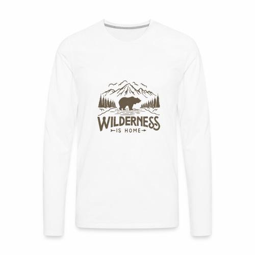 Wild Series - Wilderness - Men's Premium Long Sleeve T-Shirt