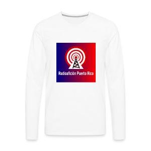 LOGO de radioaficionpr logoazulyrojo2 - Men's Premium Long Sleeve T-Shirt