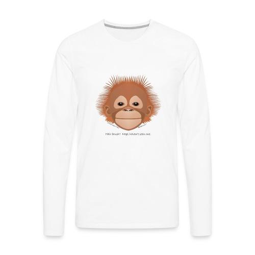 baby orangutan face - Men's Premium Long Sleeve T-Shirt