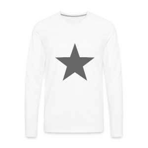 GRAY STAR 001 - Men's Premium Long Sleeve T-Shirt