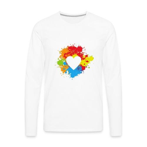 rainbow heart - Men's Premium Long Sleeve T-Shirt