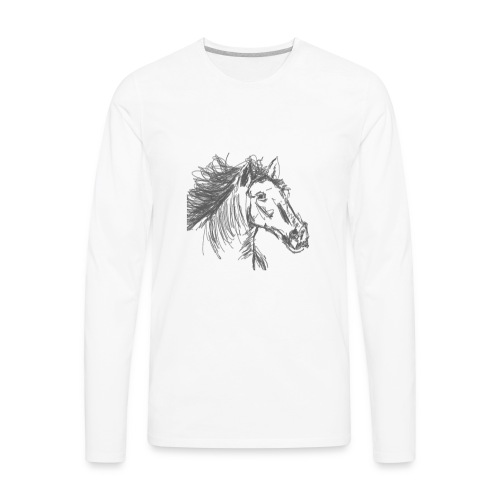 Horse - Men's Premium Long Sleeve T-Shirt