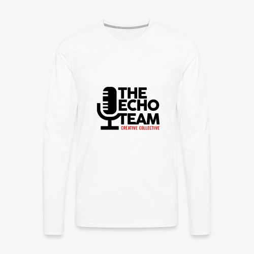 Echo Team Logo Black Letters - Men's Premium Long Sleeve T-Shirt