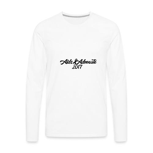 Aids Advocate logo - Men's Premium Long Sleeve T-Shirt